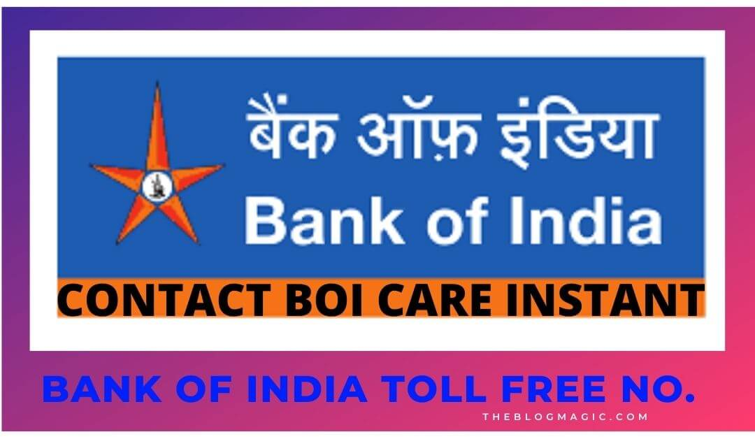 boi customer care number
