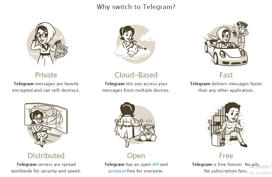 Why switch to telegram