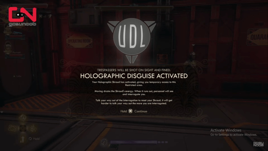 holographic disguise activated