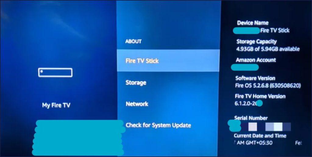 Firetv Updates check